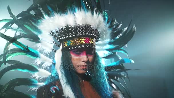 Native American woman isolated