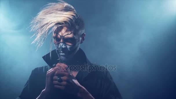Zlý člověk halloween make-upu