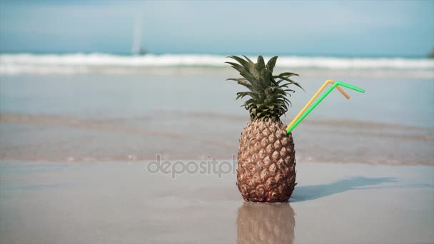 One Pineapple on the beach