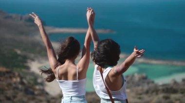 Happy women enjoying summer outdoors