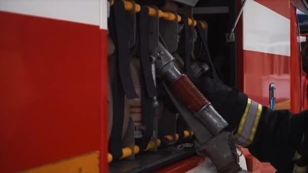 Požární a záchranné vybavení v hasičském