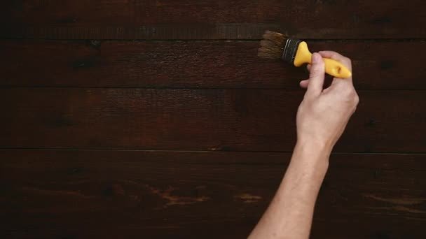 Dřevěný stůl návrháře malba