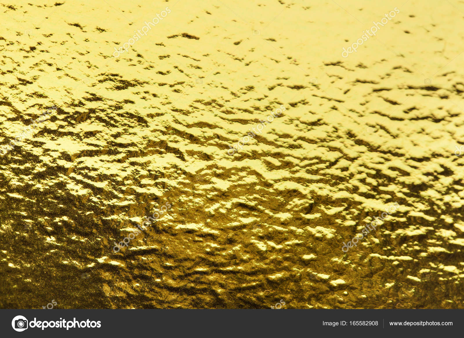 Gold foil leaf shiny wrapping paper texture background for wall ...