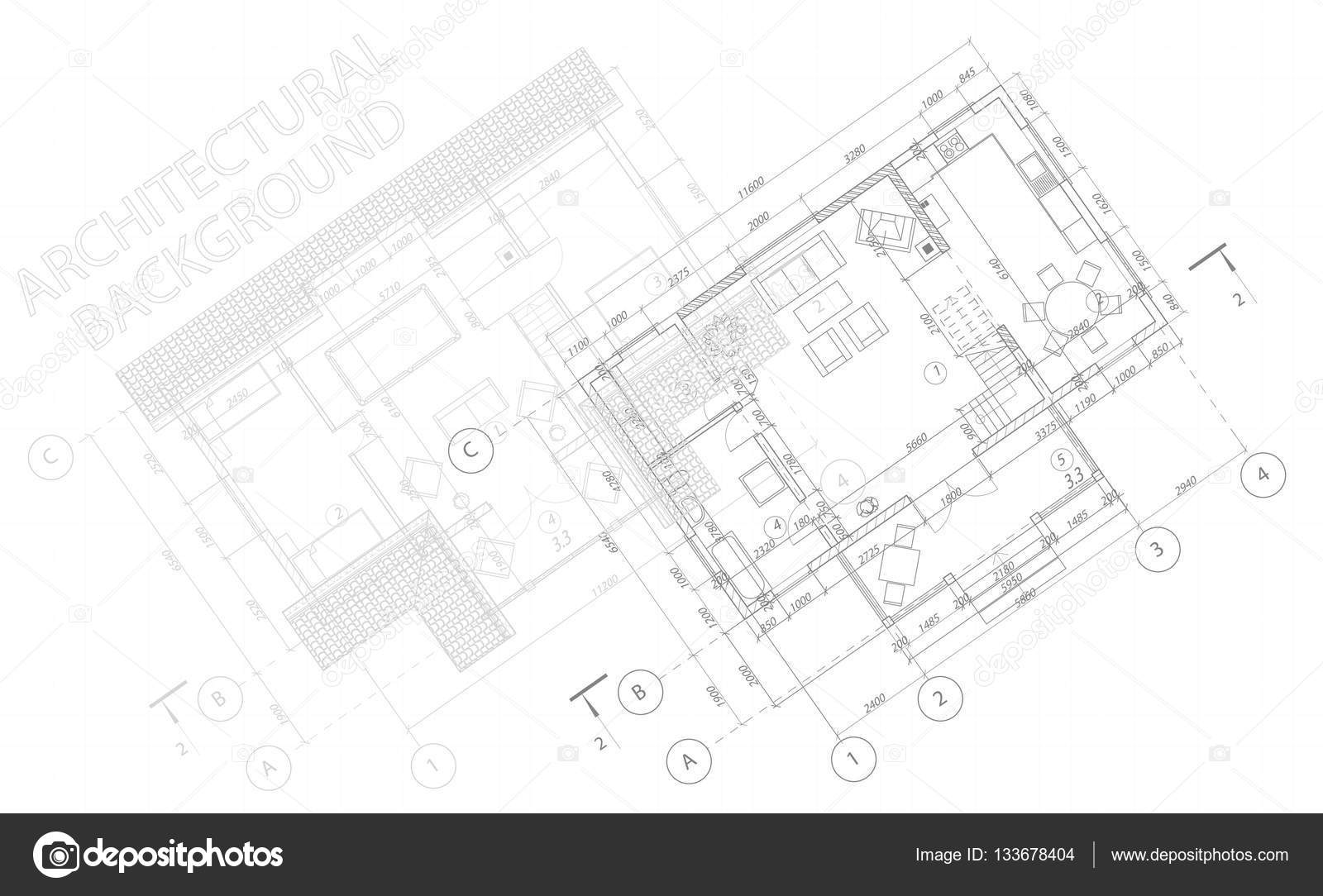 Architectural background vector blueprint detailed floor plans vector blueprint detailed floor plans suburban house stock vector malvernweather Choice Image