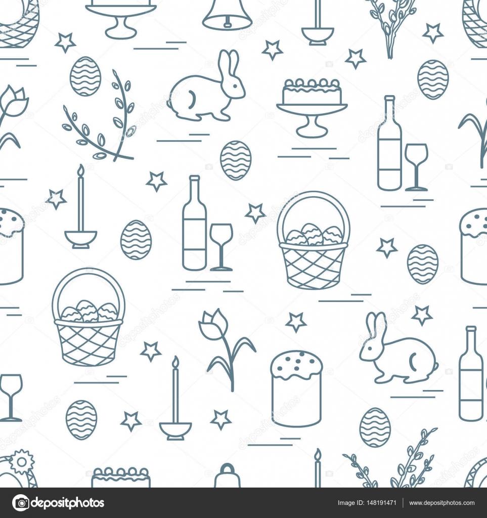 Cute seamless pattern with different symbols for easter stock cute seamless pattern with different symbols for easter design for banner poster or print vector by aquamarineinterail buycottarizona