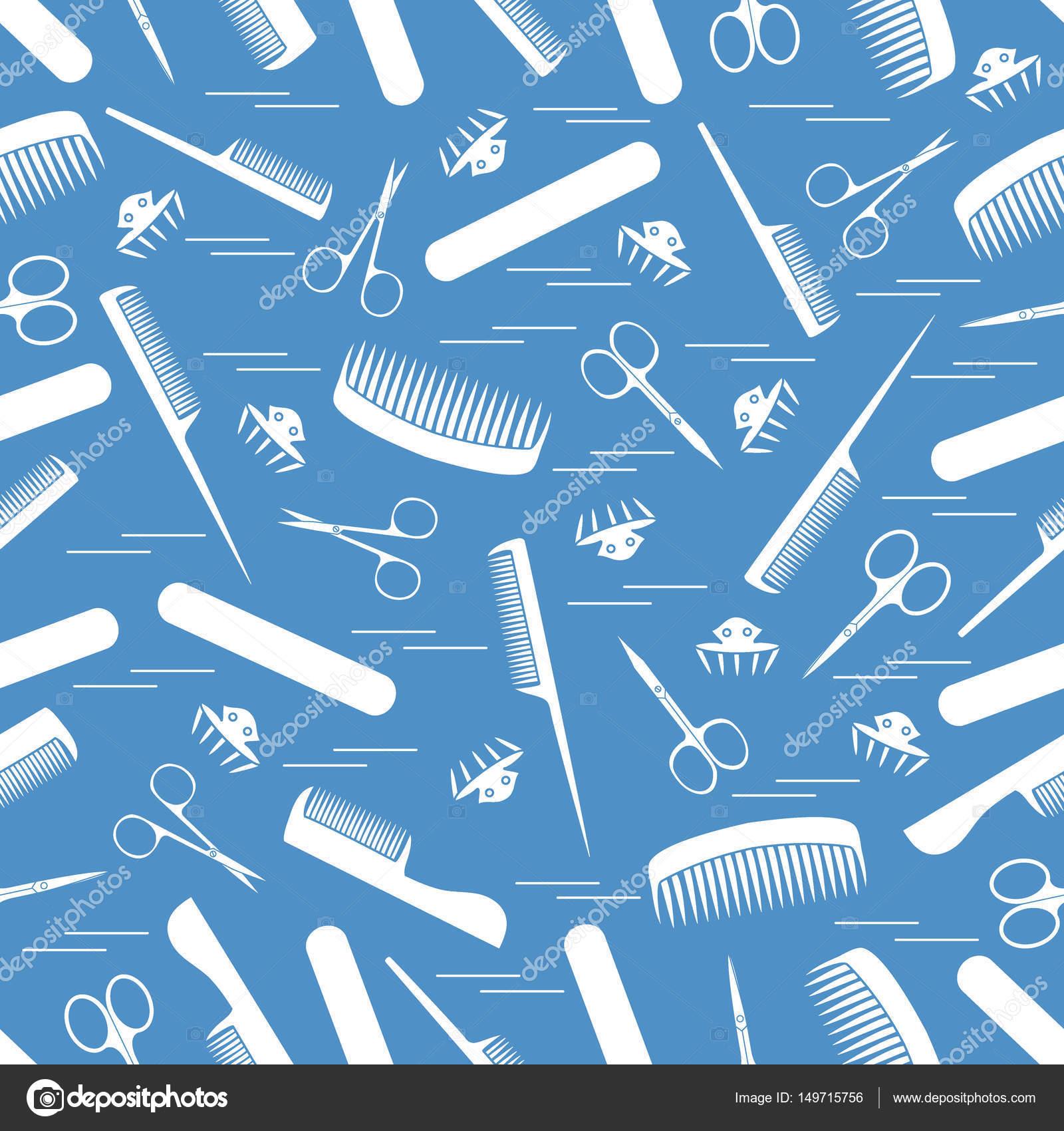 niedliches muster schere fr die manikre und pedikre kmme nagel stockvektor - Muster Fur Nagel