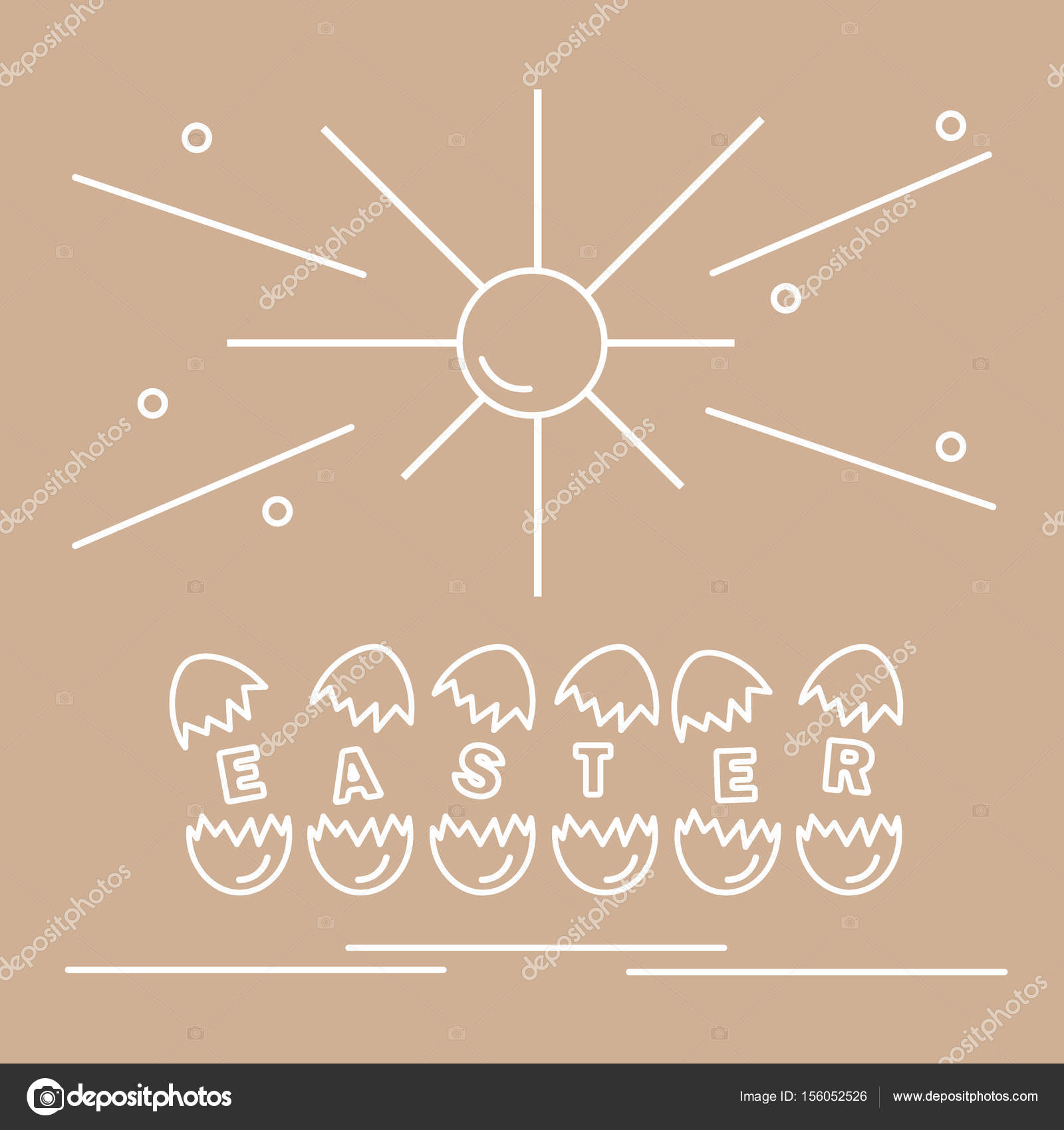 Cute Vector Illustration With Symbols For Easter Stock Vector