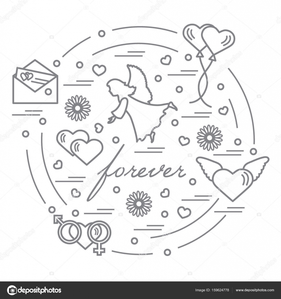 Cute vector illustration with different love symbols hearts ai cute vector illustration with different love symbols hearts ai stock vector buycottarizona Images