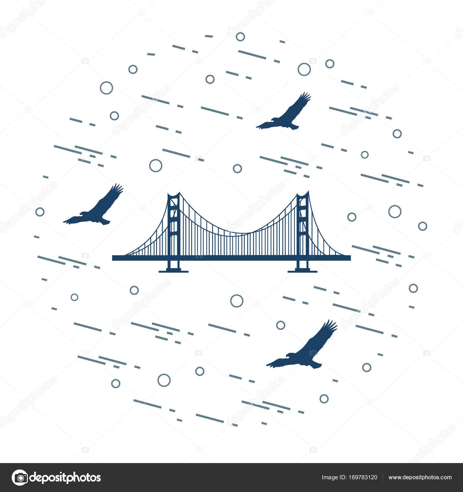 Golden Gate Suspension Bridge San Francisco California And Si