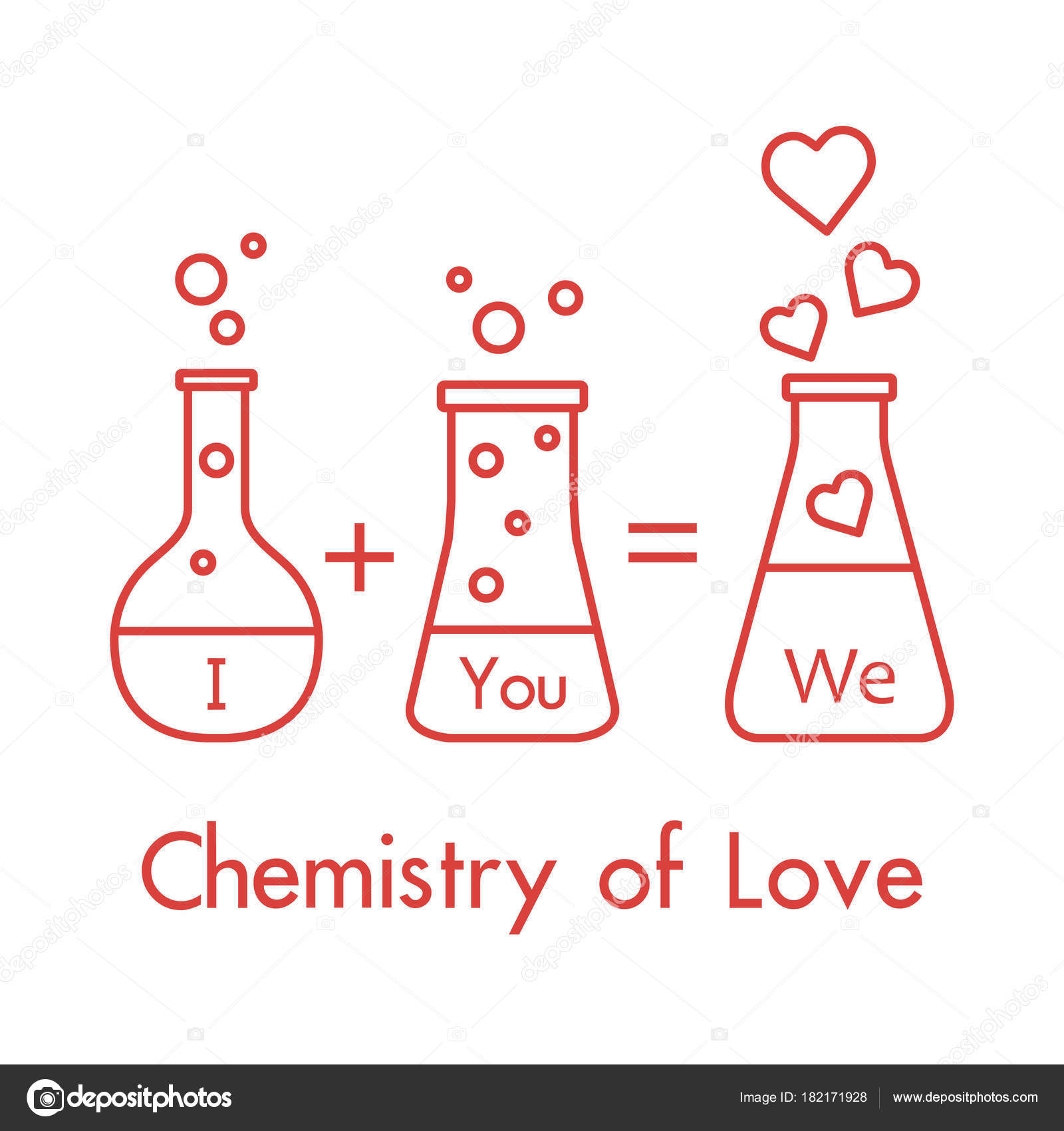 You our chemistry love design banner poster print greeting card you our chemistry love design banner poster print greeting card stock vector m4hsunfo
