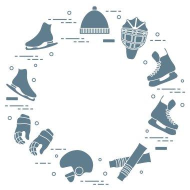 Figure skating and hockey elements.