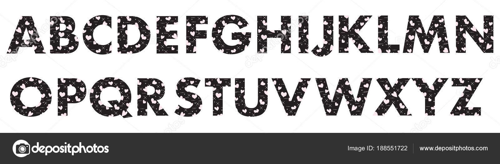 Letras mayúsculas del alfabeto inglés — Vector de stock ...