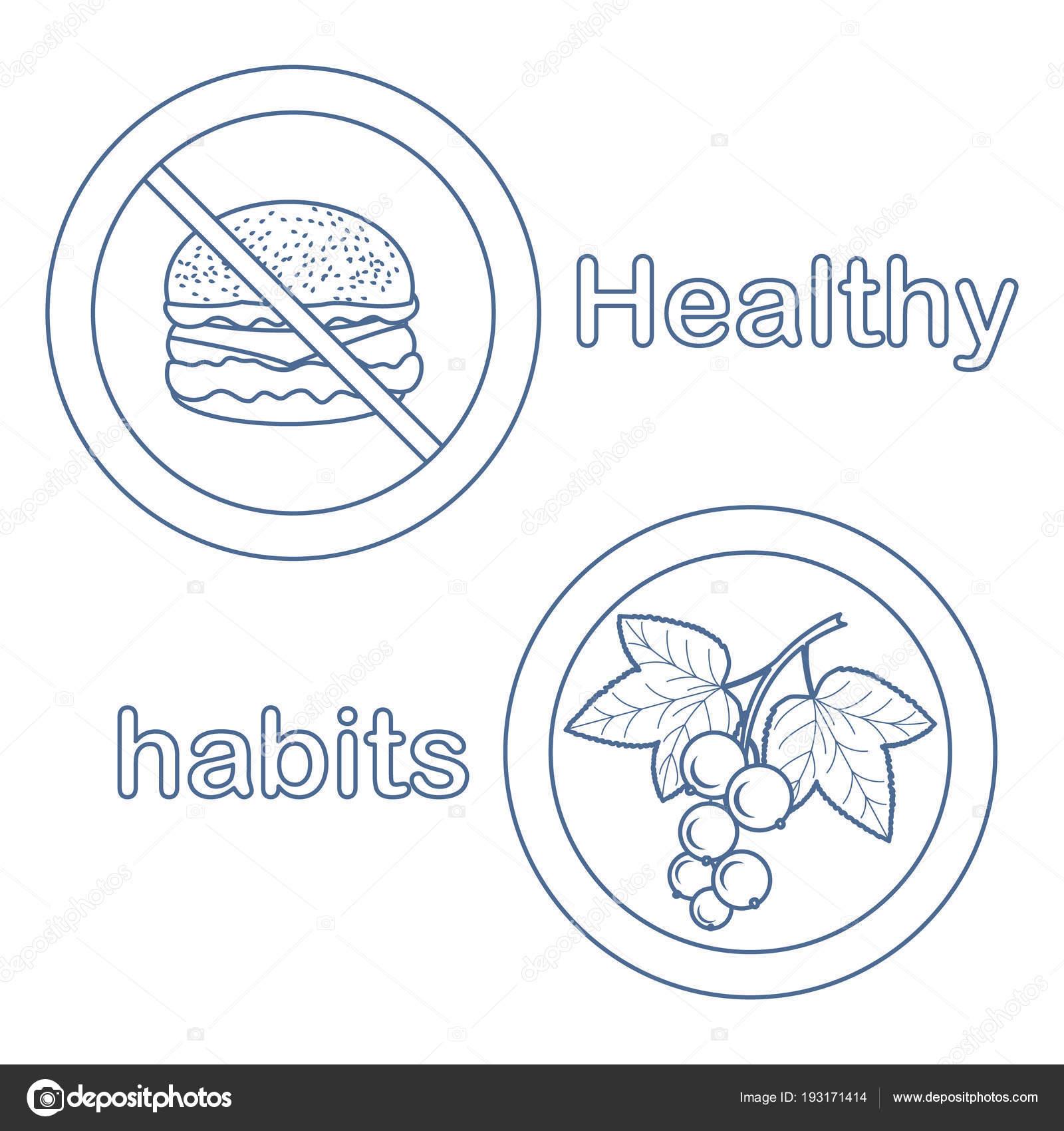 Silueta Del Plato Del Buen Comer Nutrición Adecuada Con Exceso De