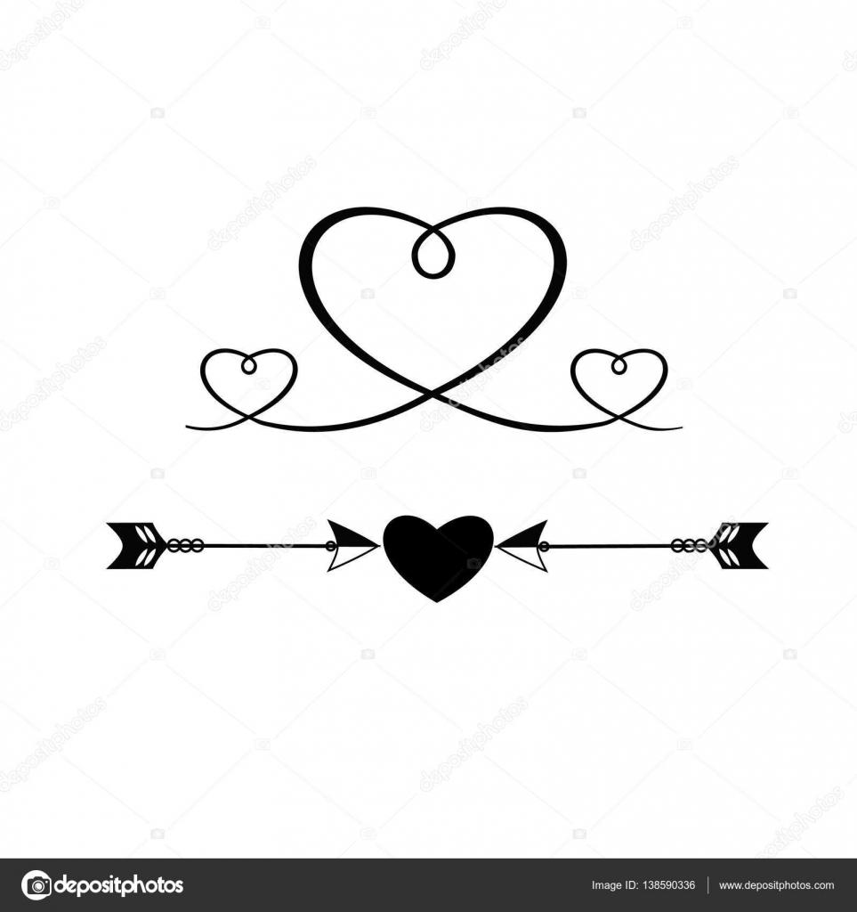sellos vintage con los corazones y flechas en el d u00eda de los amantes  icono  logotipo  vector Vintage Arrow Clip Art Vintage Arrow Clip Art