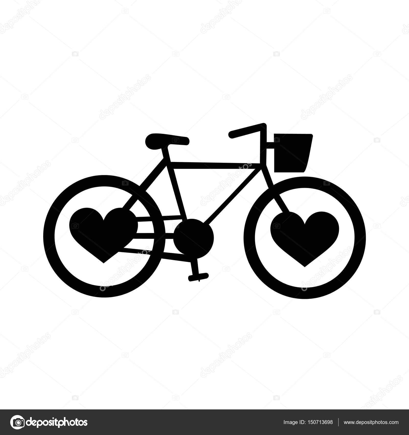 Силуэт велосипед