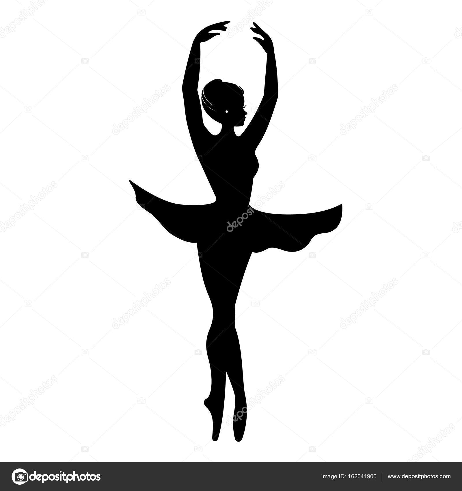 silhouette of elegant ballerina vector dancer icon sign symbol rh depositphotos com ballerina vector art ballerina vector image