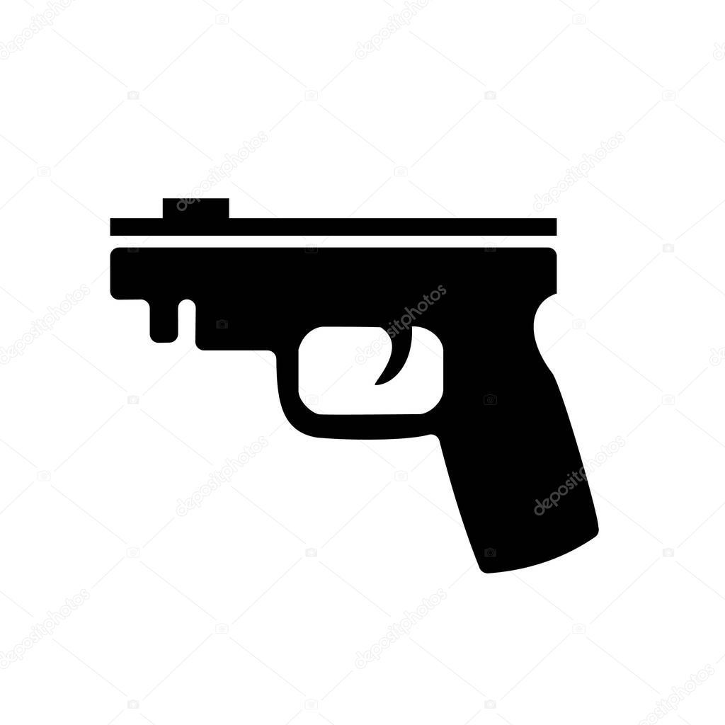 black gun isolated on white background pistol vector sign logo premium vector in adobe illustrator ai ai format encapsulated postscript eps eps format black gun isolated on white background