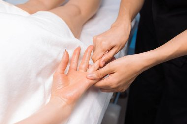 Professional massage of hands