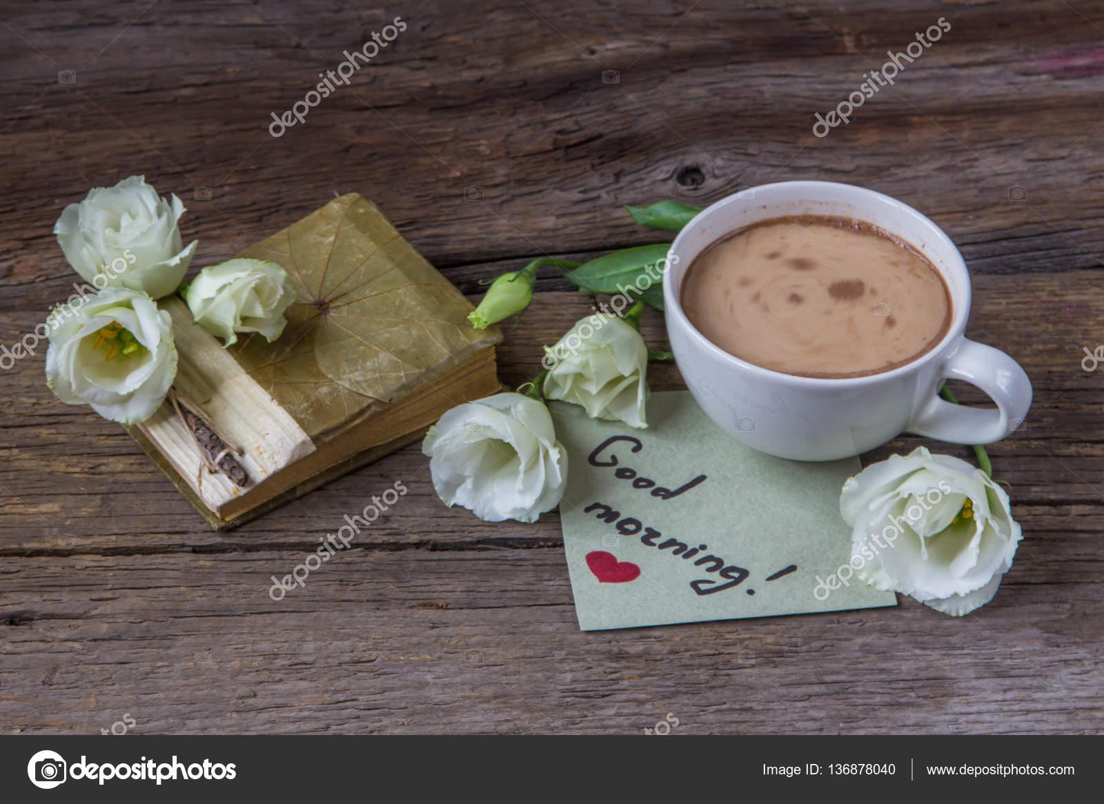 Kaffeebecher Mit Noten Von Frühling Blume Lisianthus Und