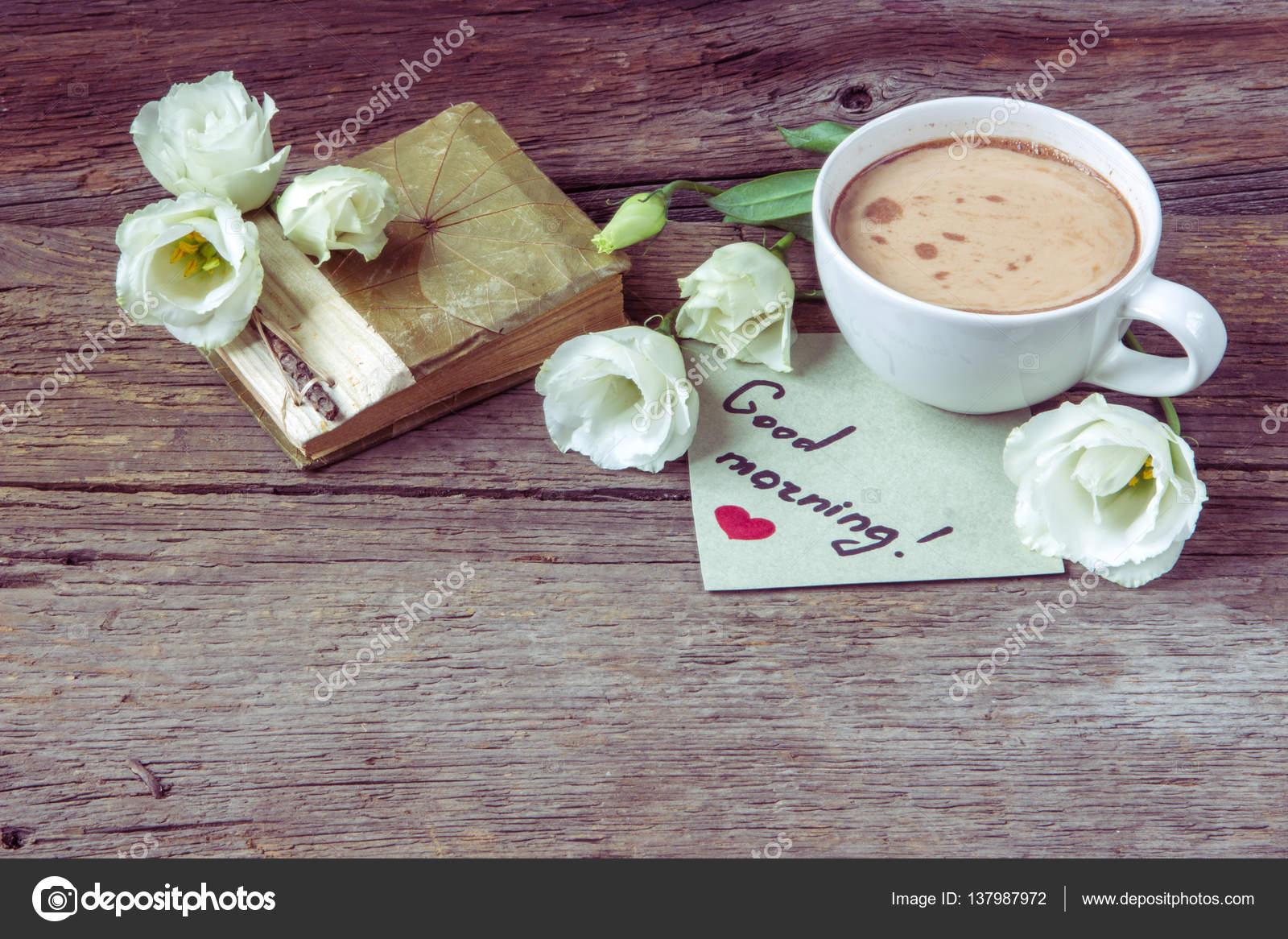 Картинки с добрым утром цветы и кофе