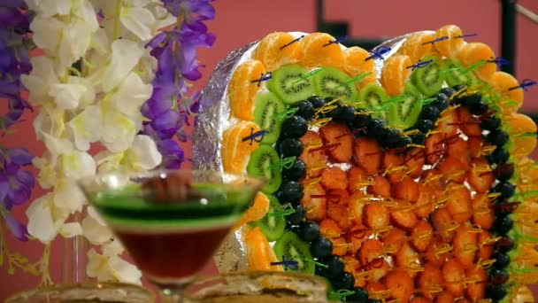Bunte Buffet Tisch Mit Sussen Fruchten Dish Schone Dekoration Essen