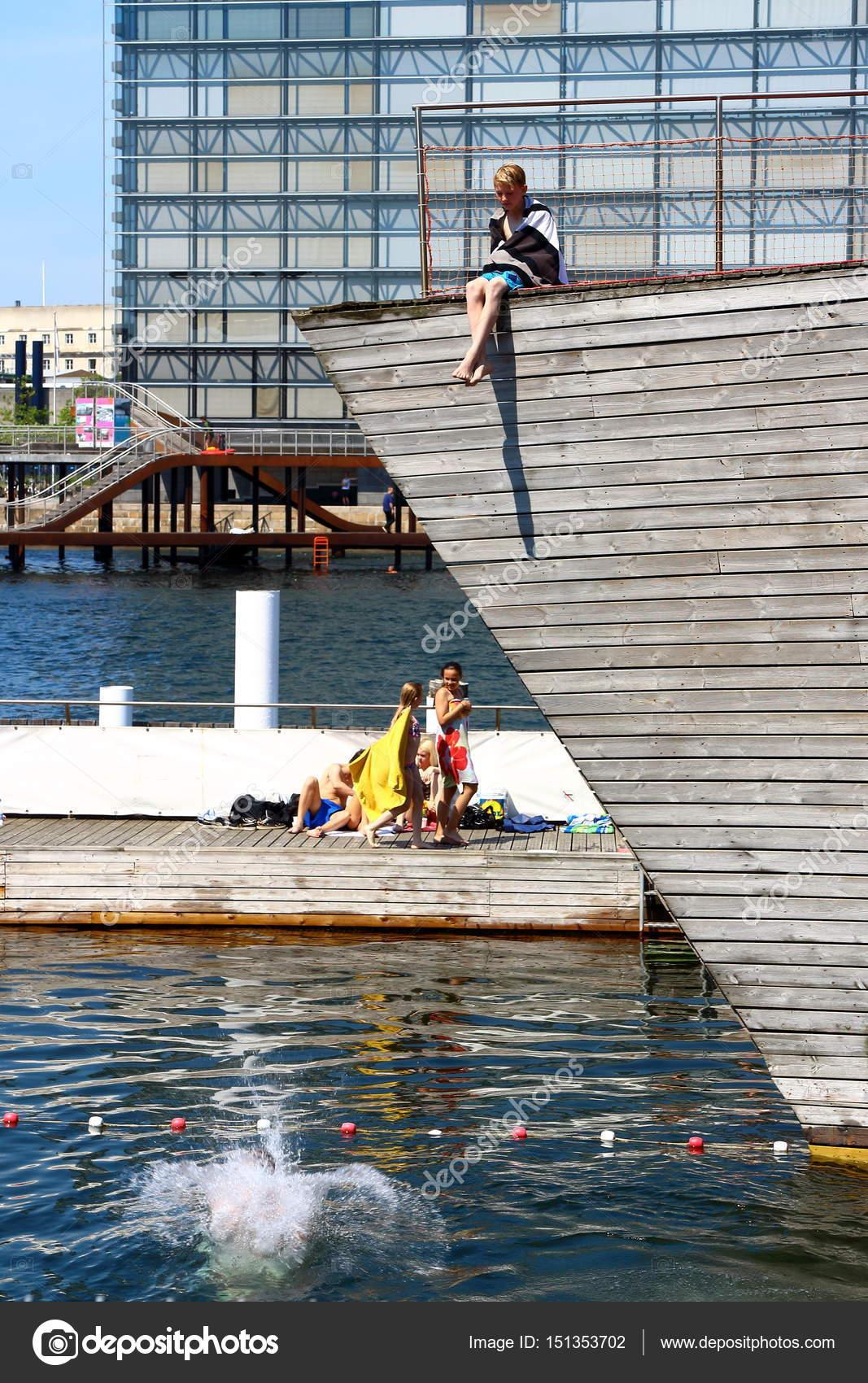 Copenhagen: children pool – Stock Editorial Photo