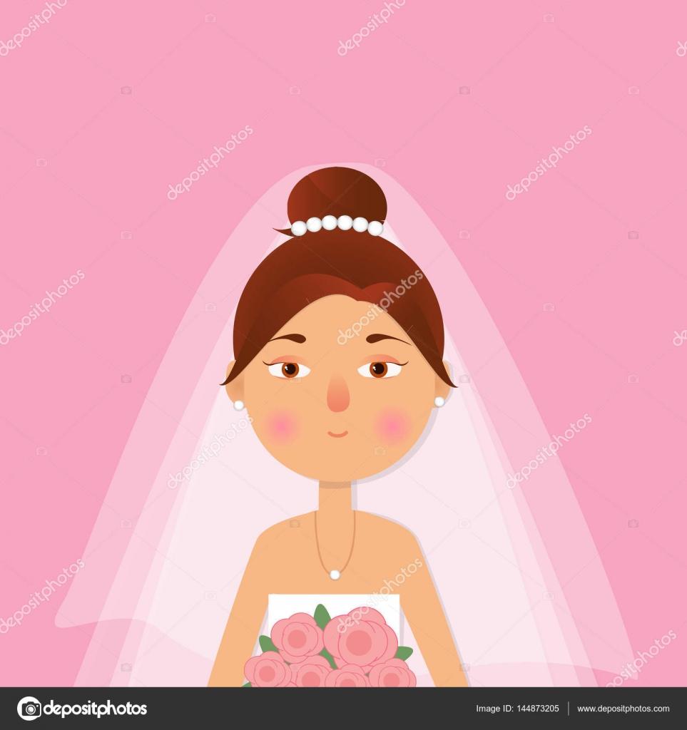 La niña, hermosa mujer en vestido de novia y el ramo de la — Archivo ...