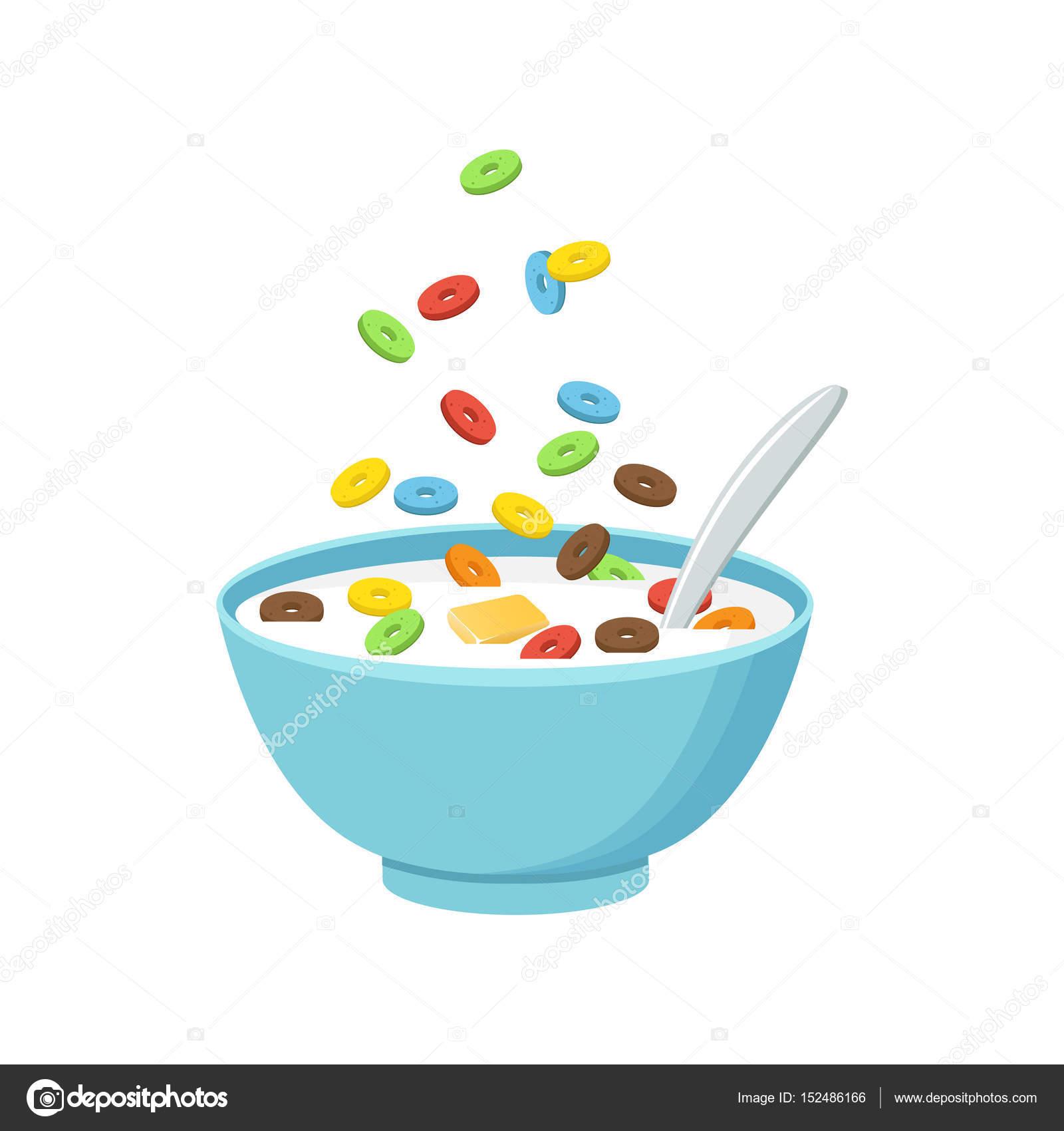 Taz n de cereales con leche batido de aislado sobre fondo for Tazon cereales