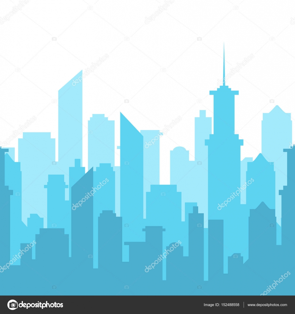 vector illustration city skyline silhouette urban landscape rh depositphotos com vector city minecraft map vector city maps