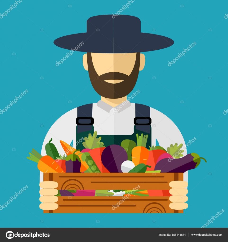 accogliente fresco nuovo elenco sconto di vendita caldo Cappello da contadino, verdura raccolta. Illustrazione ...
