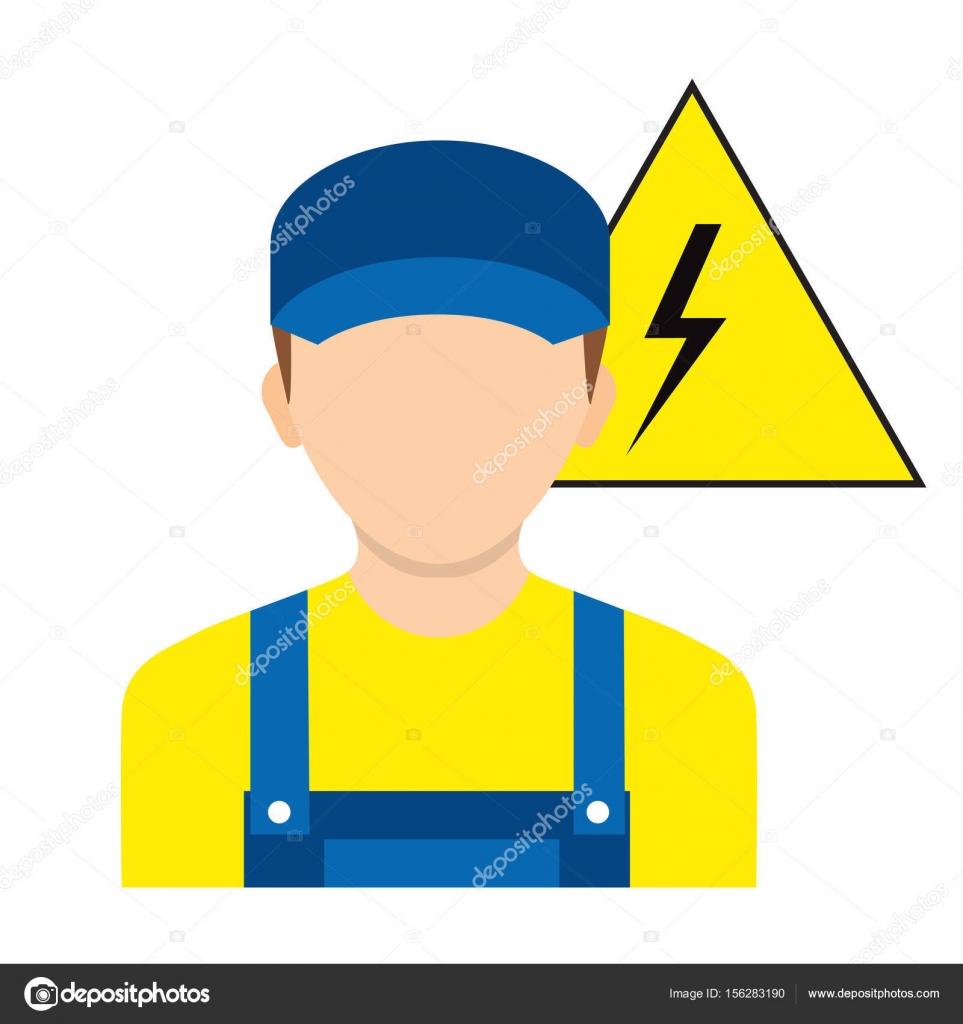 Elektriker-Arbeiter. Elektro Zeichen Symbol Arbeitssicherheit ...