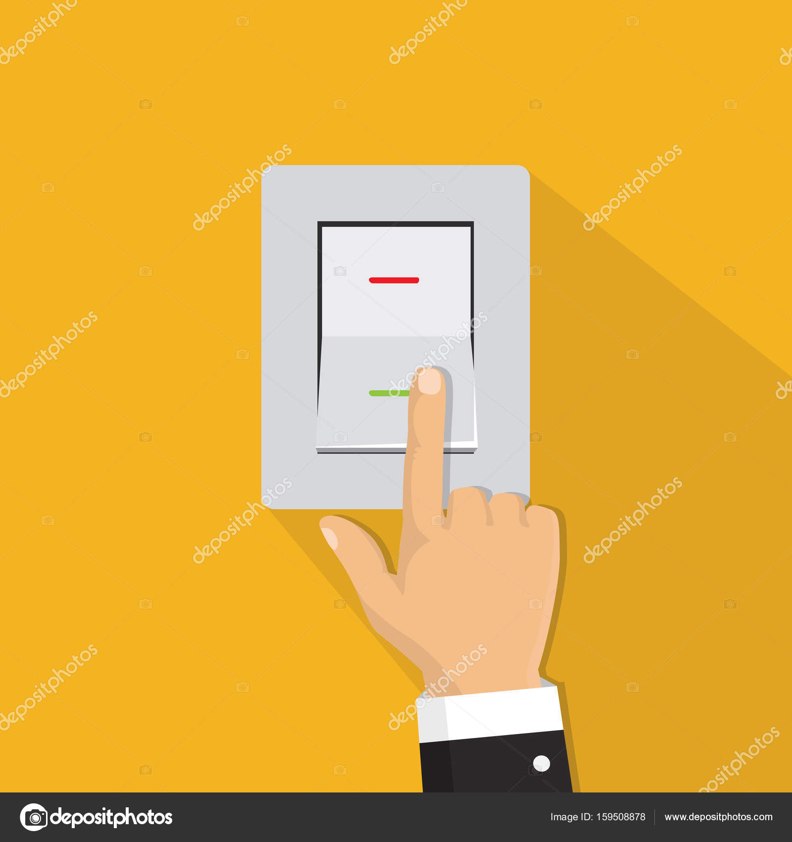 Light Switch Icon Vector  Latest Isometric Icon Hand Turning