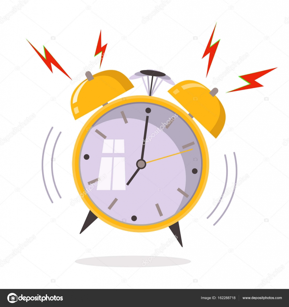 Ringing Alarm Clock Clipart