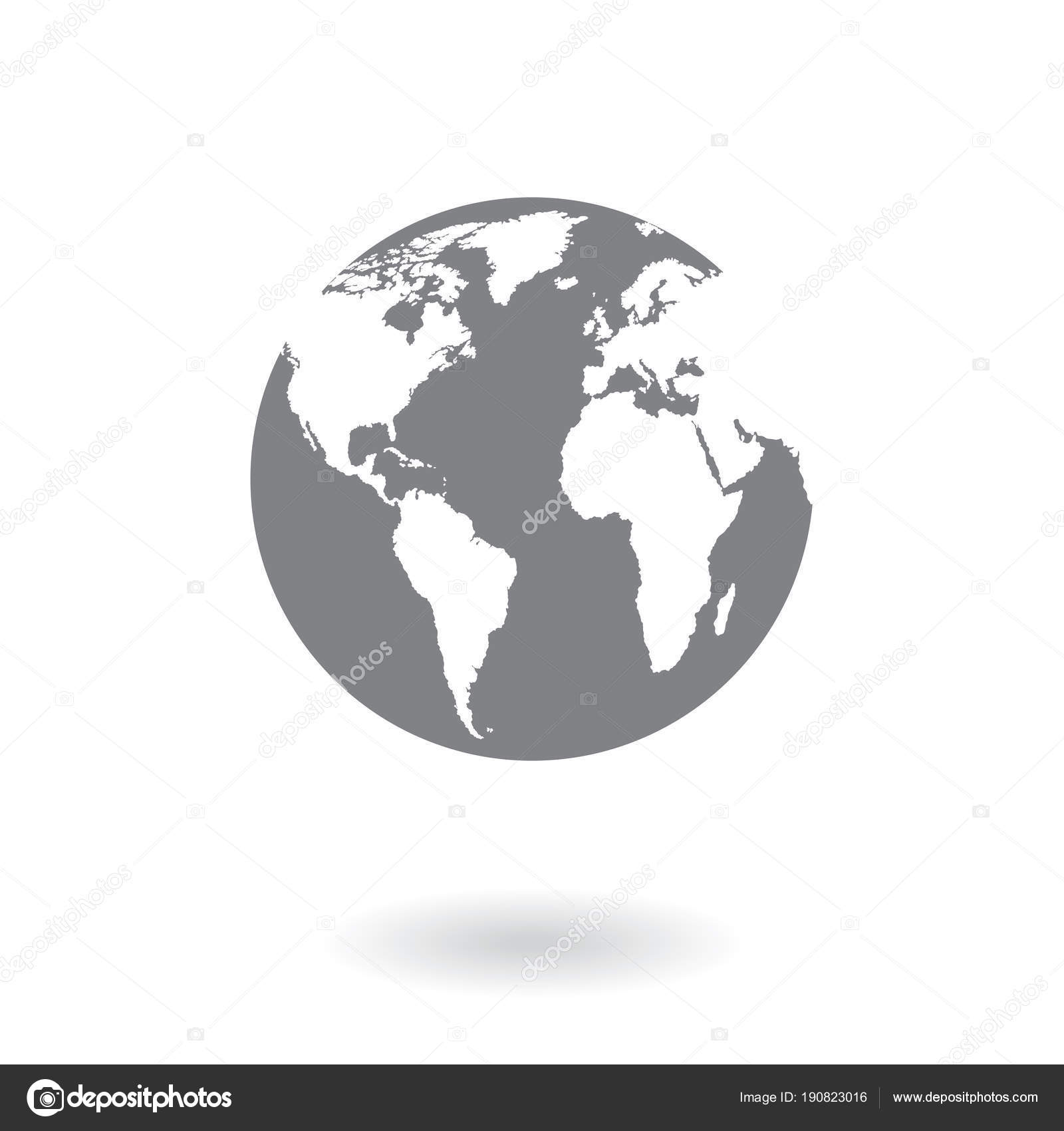 World map isolated on white background earth globe icon vector world map isolated on white background earth globe icon vector stock vector gumiabroncs Choice Image