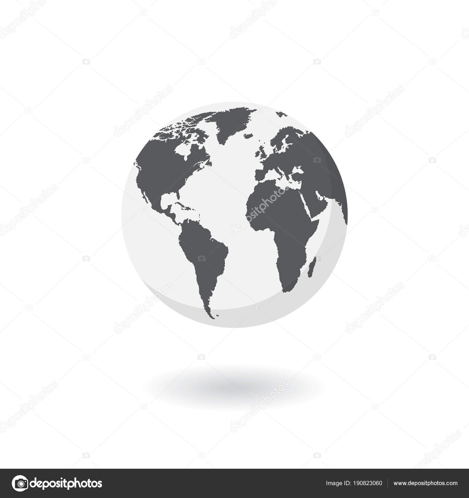 World map isolated on white background earth globe icon vector world map isolated on white background earth globe icon vector stock vector gumiabroncs Gallery
