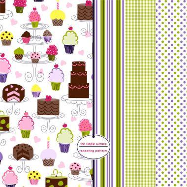 Cupcake Scrapbook Paper