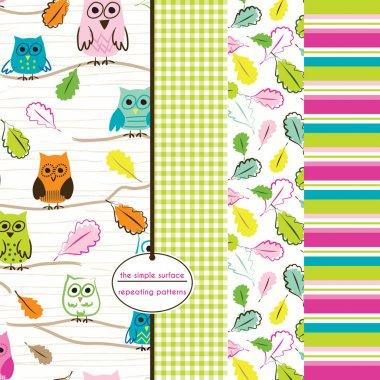 Owl Scrapbook Paper