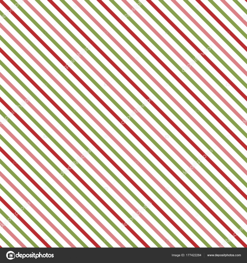 Diagonal Christmas Stripes Eps File Has Global Colors Easy Color ...