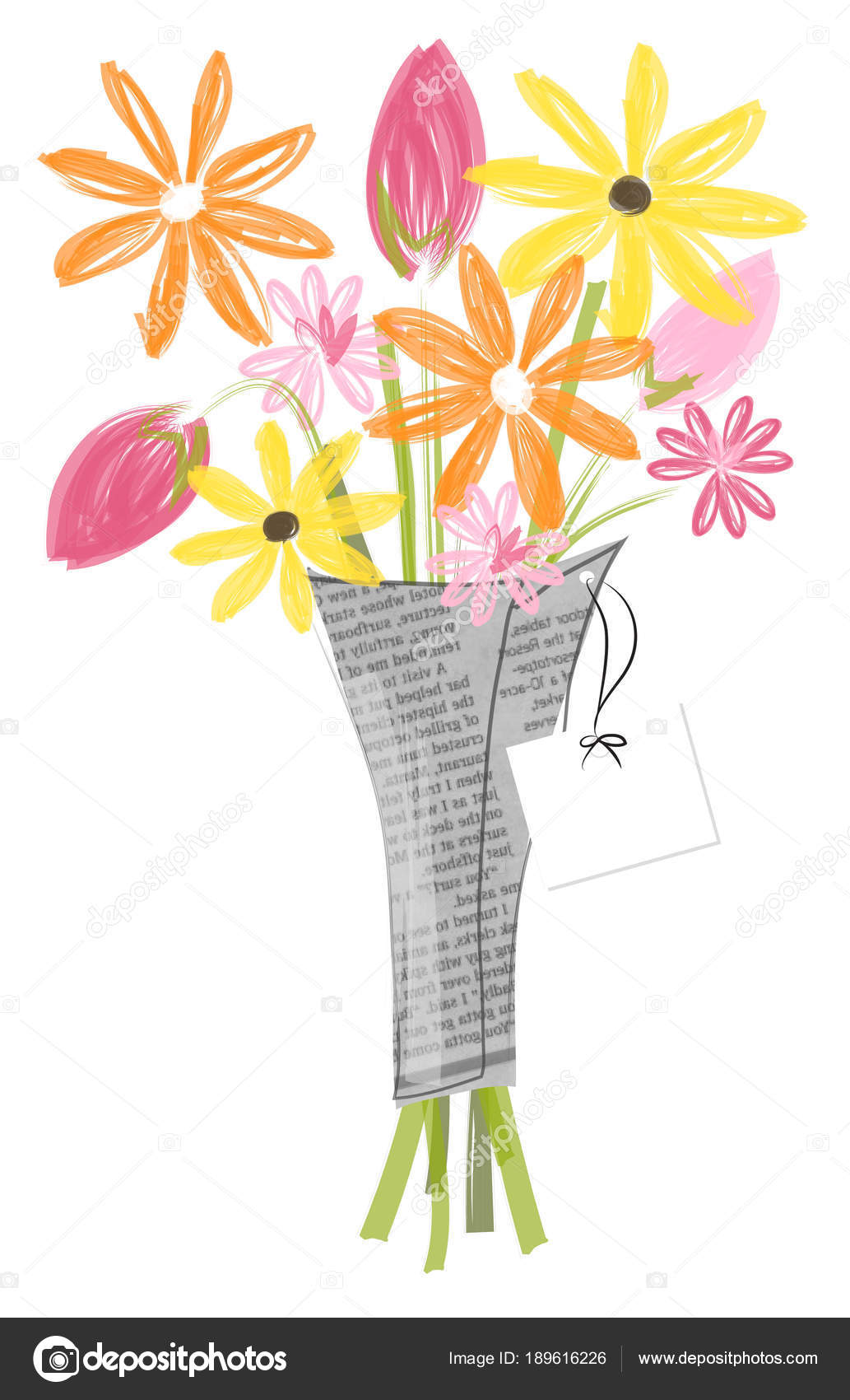 Flower Bouquet Vector Illustration Greeting Card Mother Day Easter