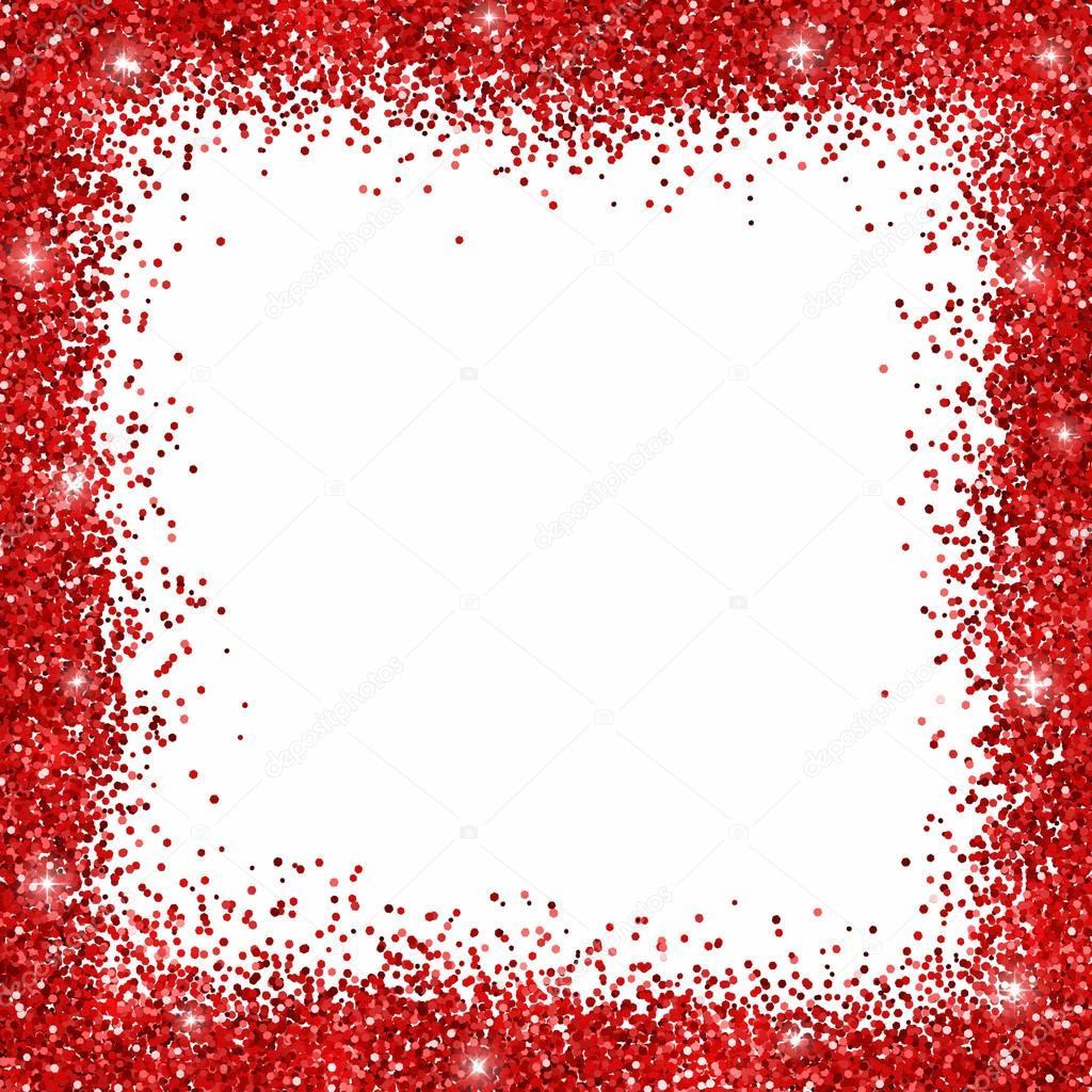 Red Glitter Border Frame Stock Vector 169 Lava Berezka