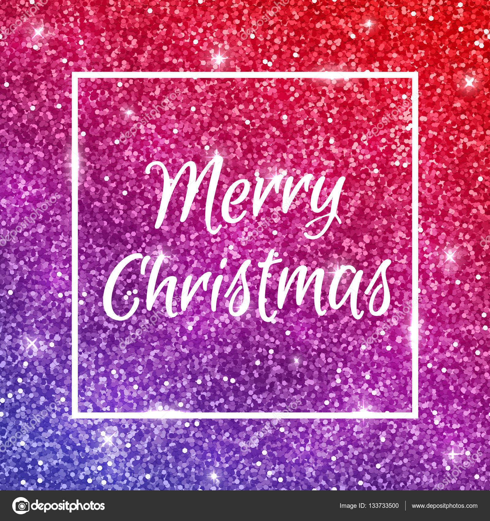 merry christmas on red purple glitter vector stock vector 133733500