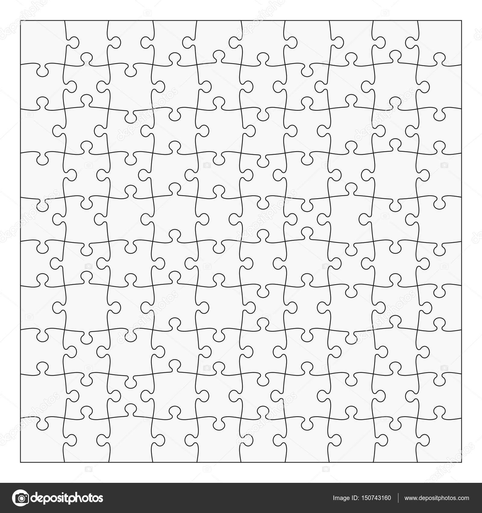 テンプレート 10 x 10 個をパズルします 簡単に別の部分を削除