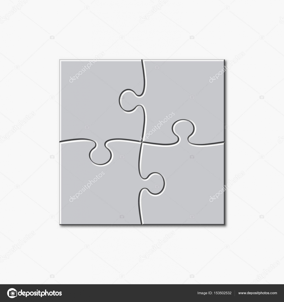 Puzzle template 2x2 pieces — Stock Vector © lava.berezka.gmail.com ...