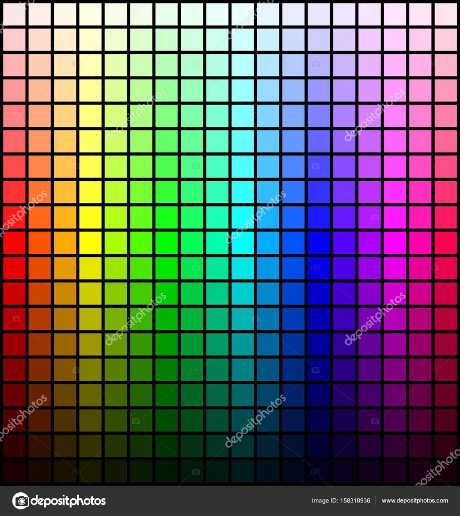 Spektrum Der Farbpalette Farbton Und Helligkeit Auf Schwarzem