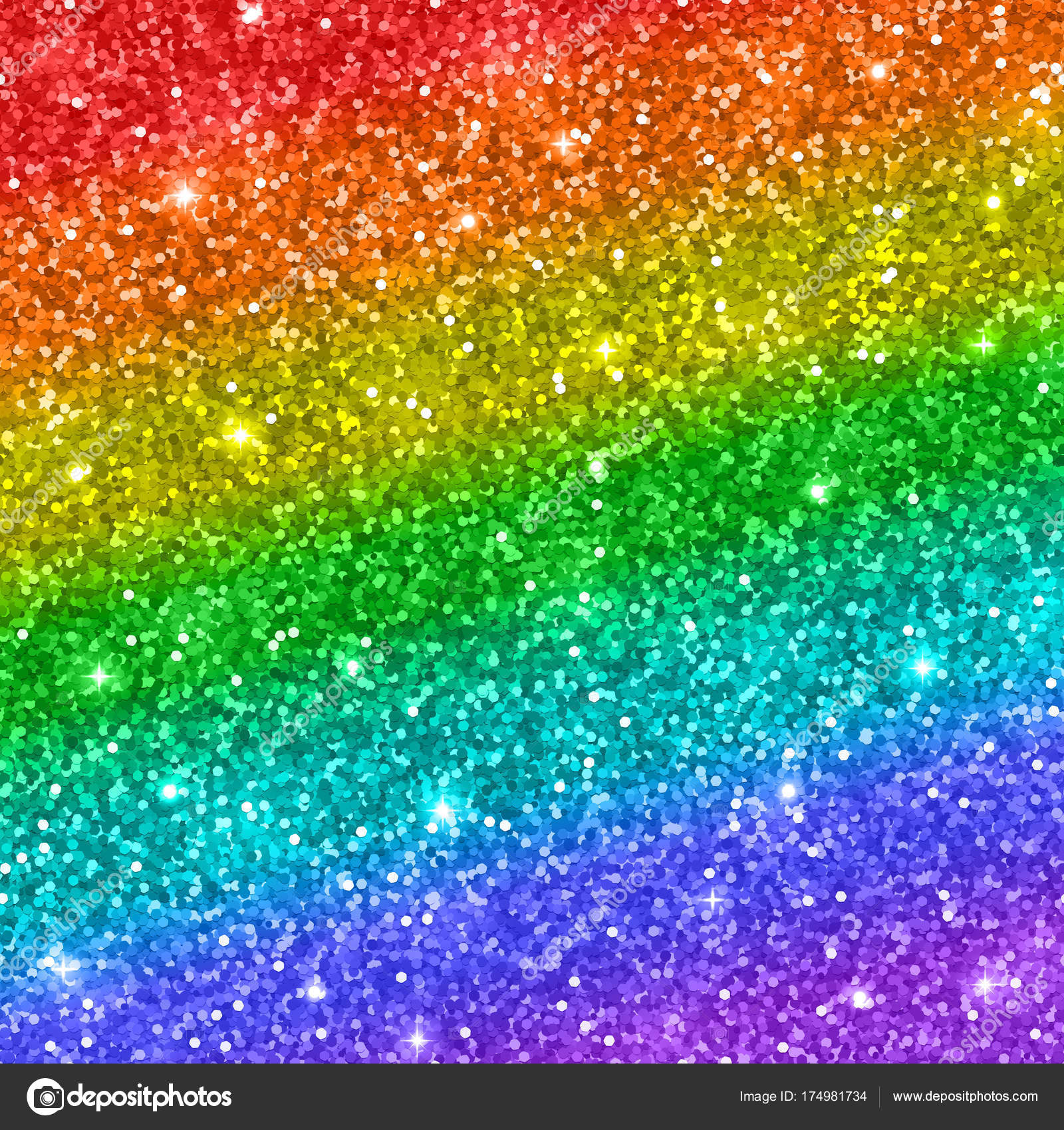 rainbow glitter background vector stock vector