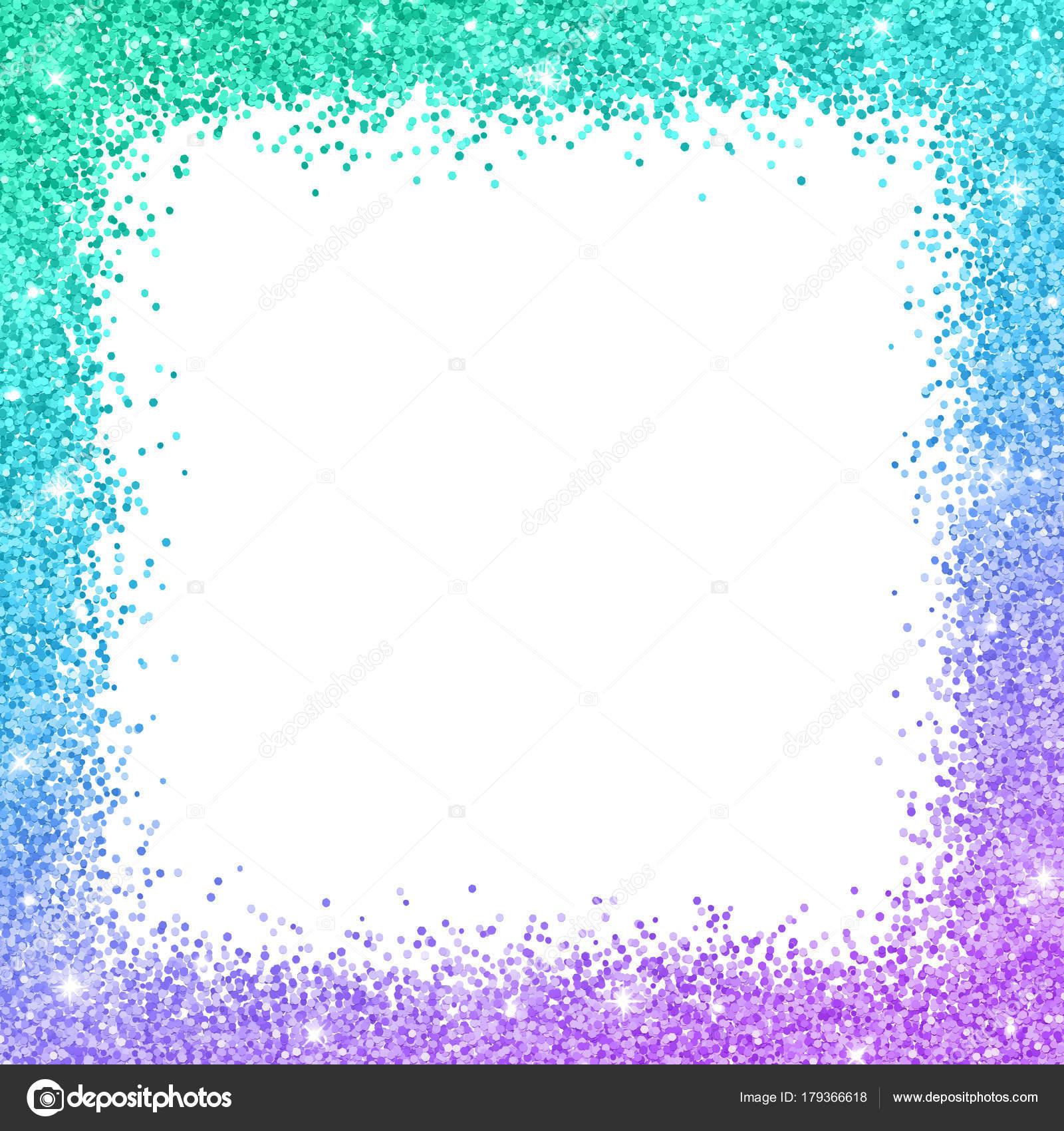 Marco de frontera brillo con efecto de color púrpura azul turquesa ...