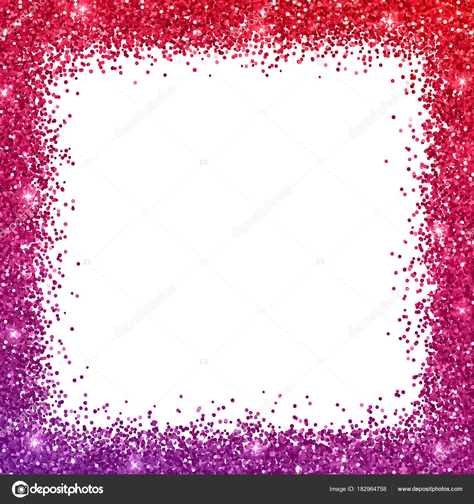 Marco de frontera brillo con efecto de color rojo púrpura. Vector de ...