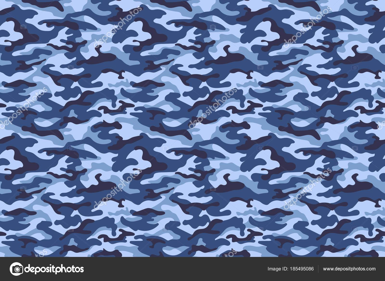 Colore Di Trama Blu Mimetico Militare Vector Vettoriali Stock