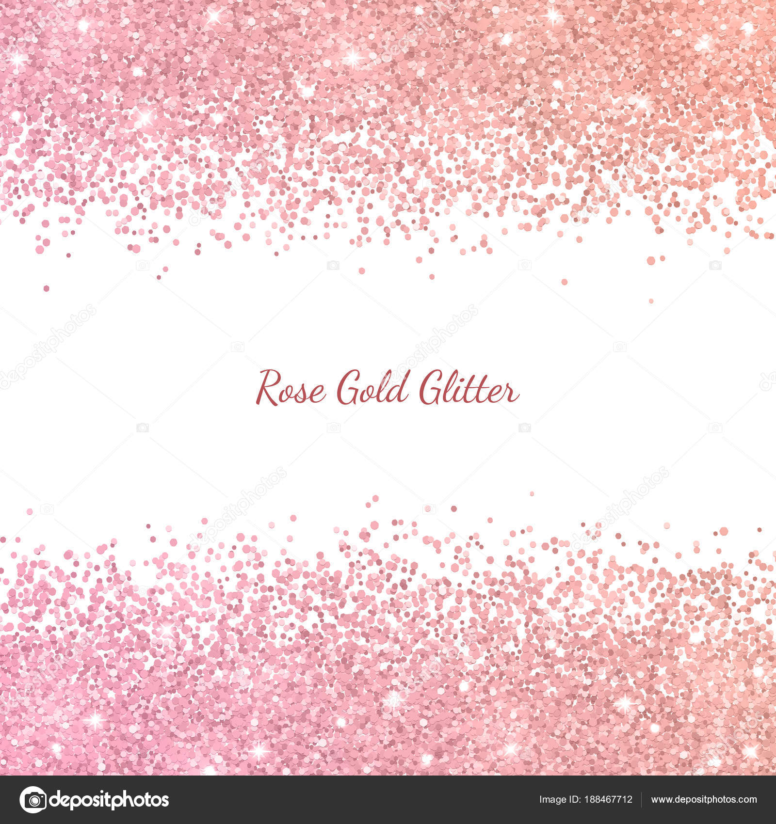 Rose Gold Glitter With Color Effect Vector Stock Vector C Lava