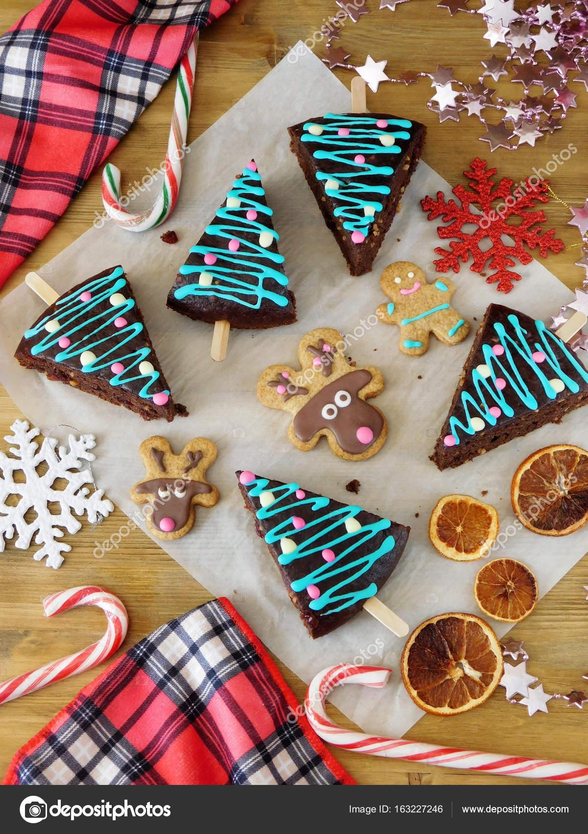 Pasteles de Navidad dulces y decoraciones Tortas decoradas como